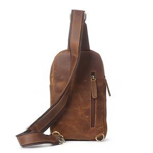 កាបូបបុរស Men Leather Chest Small Shoulder Bag PZ693626