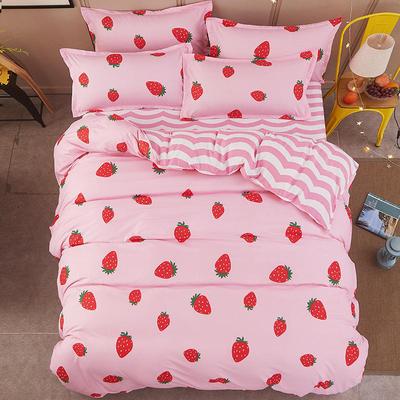 批�l�J�C棉床上用品四件套��s床�伪惶�1.5�稳巳�4件套1.8米 2.0m
