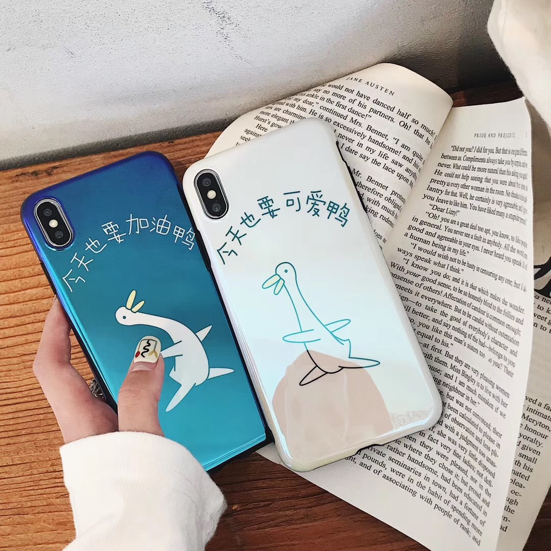 Cute today also happy duck Xs for Apple 6splus mobile phone shell men and women 7p couple iPhone8p set