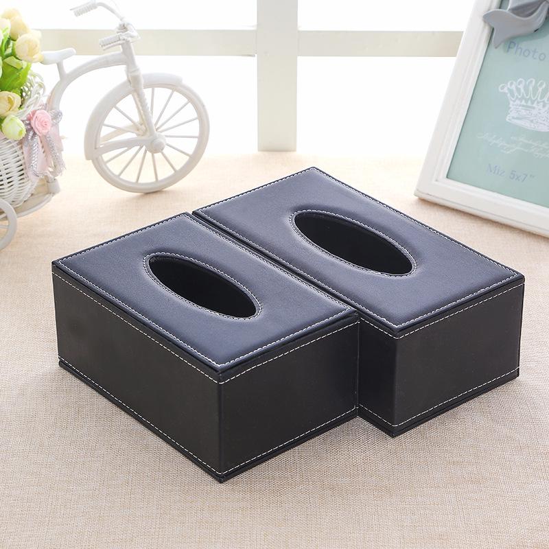 创意欧式皮革纸巾盒汽车纸巾盒子定制车载pu皮质抽纸盒批发纸抽盒