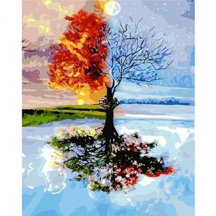 動漫人物數字油畫 客廳風景花卉手繪裝飾油畫 天水一線無框風景畫
