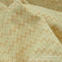 波浪彩棉提花  彩棉有機棉 彩條 新款環保面料