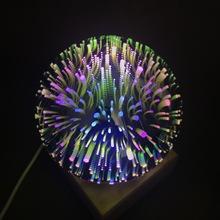 3D玻璃罩魔幻灯火树银花灯 LED床头卧室装饰台灯 星空灯月球灯