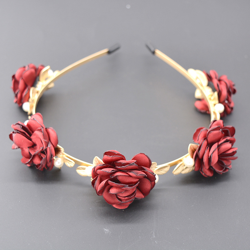 Alloy Vintage Bows Hair accessories  (red) NHNT0624-red