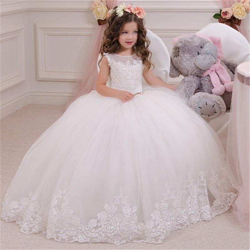 ABAO Flower Girl Dress Bridesmaid Pageant Wedding Prom Gown ZG8