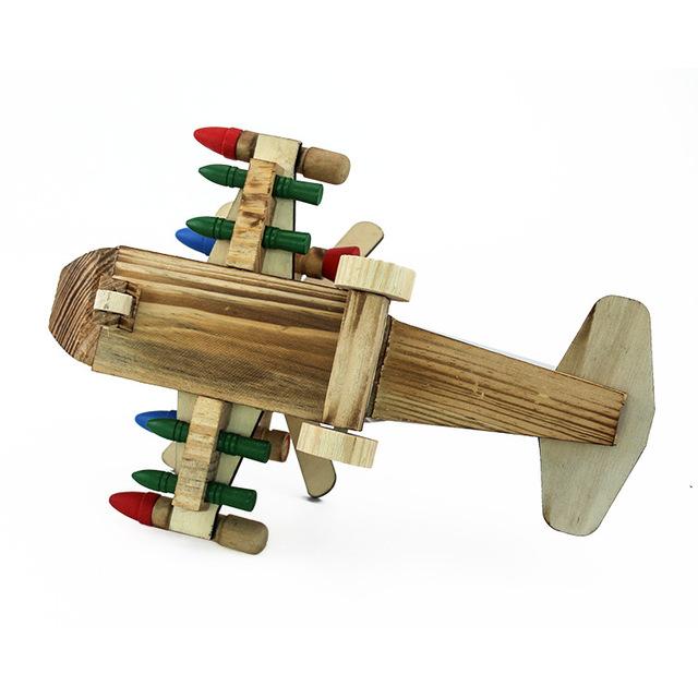 Mô hình máy bay trực thăng Wolf Copter Mô phỏng bằng gỗ Mô hình trang trí hàng không Nhà máy trực tiếp 81367 Mô hình hàng không