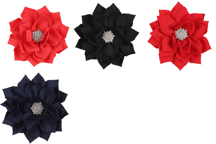 Cloth Fashion Flowers Hair accessories  red  Fashion Jewelry NHWO0875red