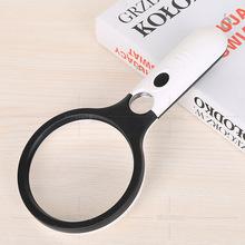 外貿電商創意LED燈球拍 雙鏡閱讀手持108mm放大鏡定制批發70108