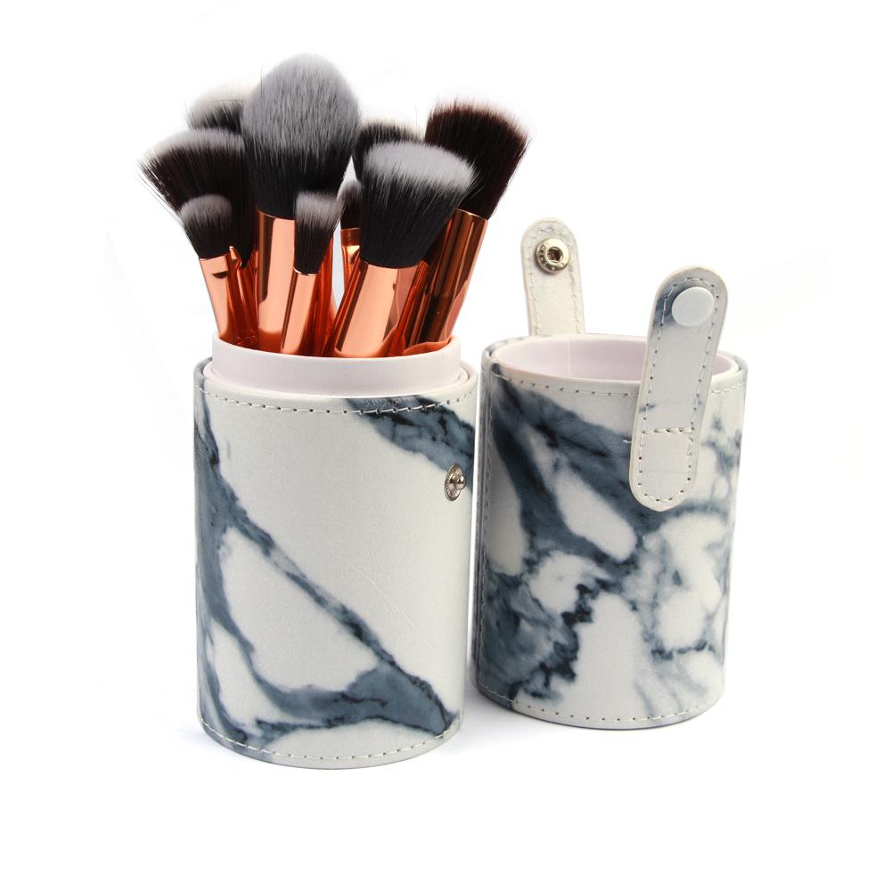 15 pics marble makeup brush cosmetic bag NHDJ152806