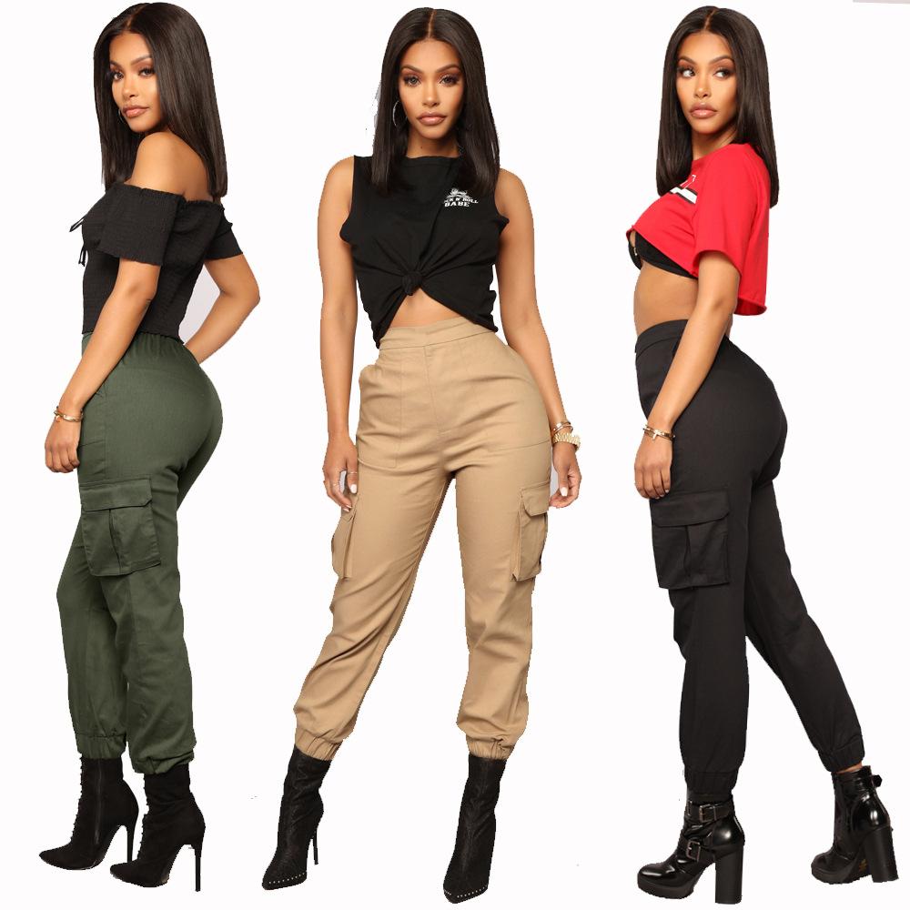 Harem Pants Multi-pocket Overalls Women