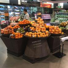 貨架堆頭水果編織蔬菜熱賣塑料超市陳列水果收納