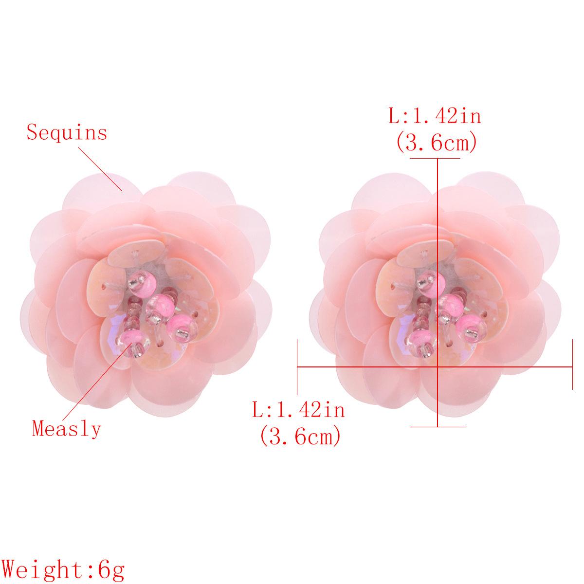 Alloy Fashion Flowers earring  (Pink) NHJE1529-Pink