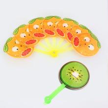 可愛迷你軟質塑料折疊水果卡通扇子 夏季塑料兒童玩樂扇子小扇子