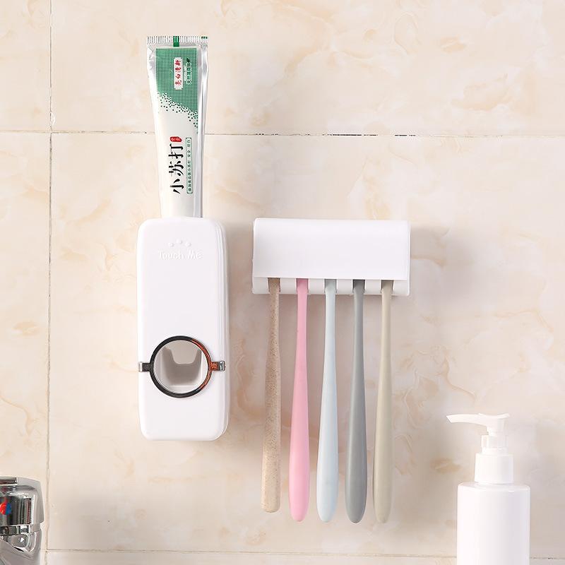 韩版全自动牙膏挤压器 家用便携防尘牙刷架洗漱套装牙刷盒