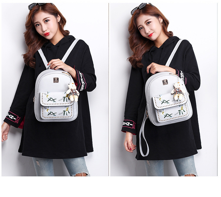 New fashion shoulder bag Korean version of the embroidered shoulder bag XC190413117239