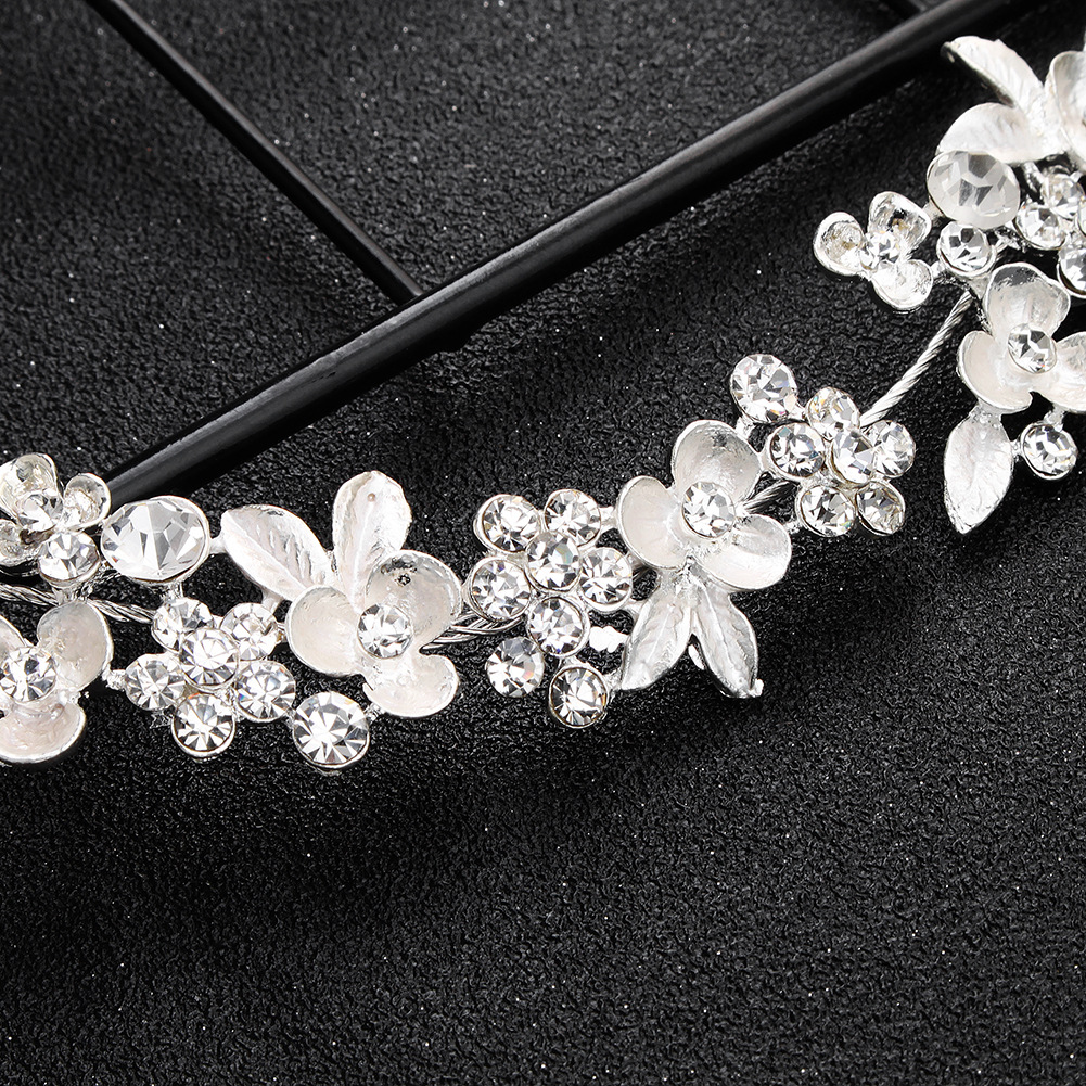 Alloy Fashion Flowers Hair accessories  (HS-J5447 rose alloy) NHHS0619-HS-J5447-rose-alloy