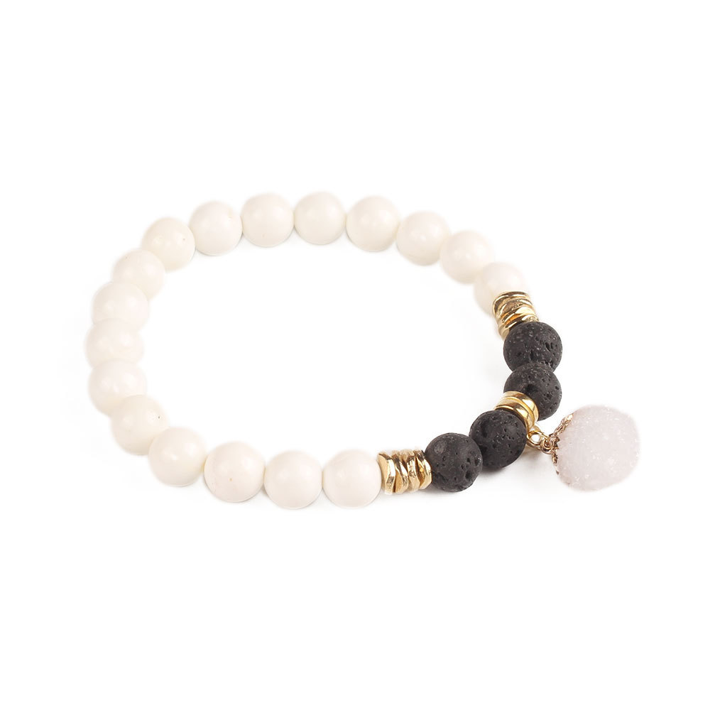 Natural Stone Fashion Geometric bracelet(B-B0548-A) NHGW0928-B-B0548-A