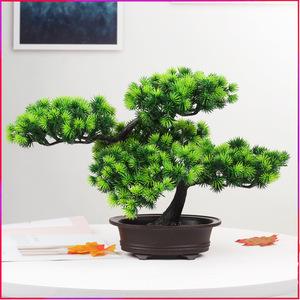 True and false flower potted ornament false tree big welcome pine plastic bonsai true pine indoor green plant decoration