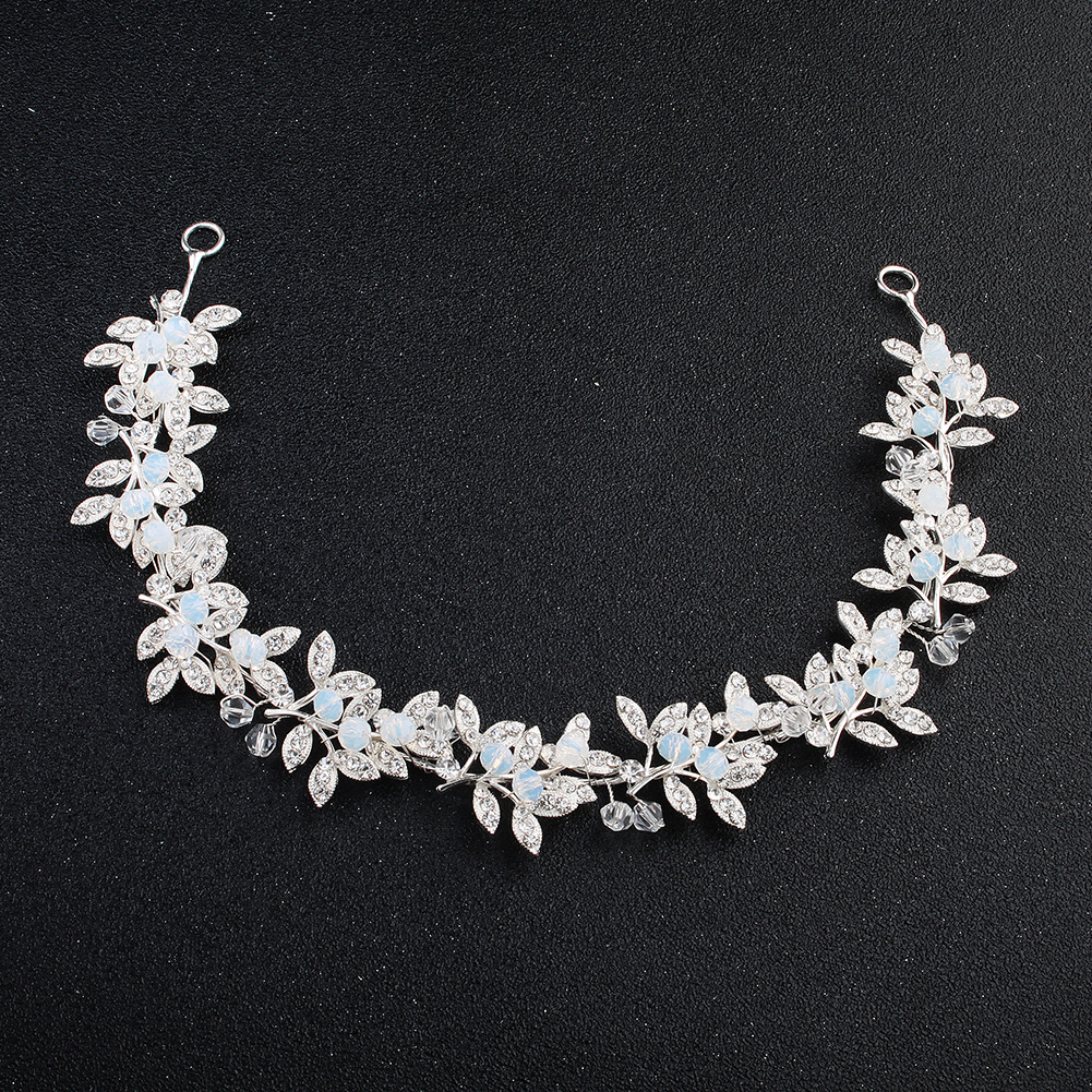 Imitated crystal&CZ Fashion Geometric Hair accessories  (Alloy) NHHS0500-Alloy