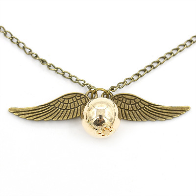 Harry Potter and Deathly Hallows Necklace Angel Wing Necklace Clavicle Chain Wholesale NHCU192689