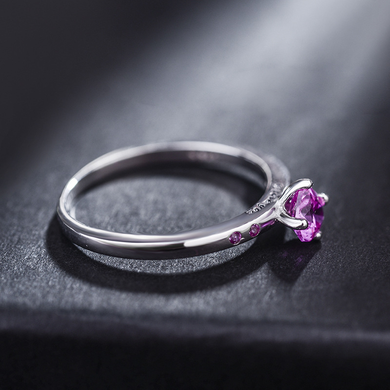 Alloy Korea Sweetheart Ring  (Alloy Red Rhinestone 15.5mm) NHLJ3959-Alloy-Red-Rhinestone-15.5mm