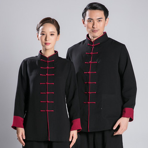 Tai chi kung fu clothing for women and men wushu morning exercise suit linen and martial arts training suit