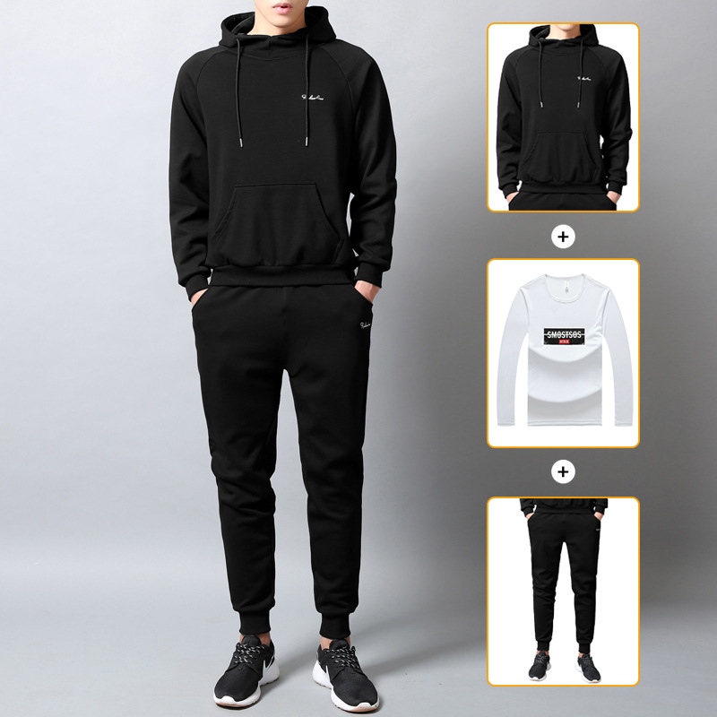 Sumitong men's autumn and winter new style sanitary suit three piece set