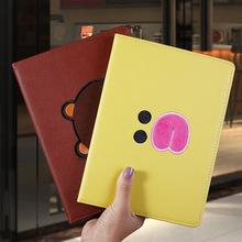 2018新刺绣ipad保护套9.7寸air2全包边mini4迷你pro 10.5硅胶软壳