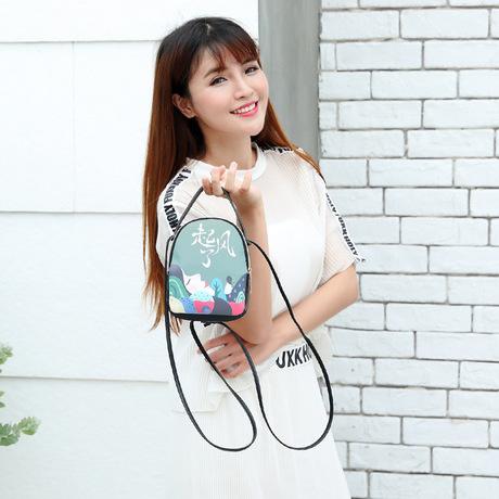 Ba lô Nhật Bản và Hàn Quốc mẫu mới nổ cá nhân in túi nhỏ đơn giản túi xách mini vai hoang dã Túi Messenger
