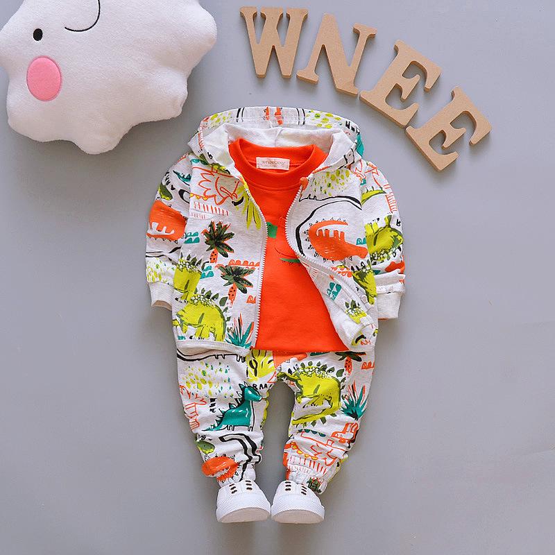 2020春季新款童装潮中小童长袖1-4岁宝宝三件套休闲卫衣男童套装