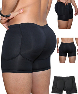 TOPMELON hot style men's front egg sac with a hole in the hip design sexy boxer shorts A148