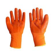 供应pvc全挂毛圈浸胶劳保手套防寒  耐油耐酸碱