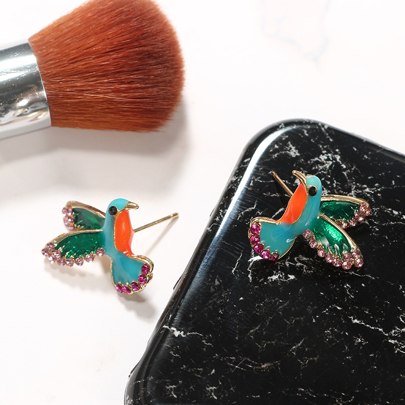 Alloy Simple Animal earring  (green) NHGY2393-green