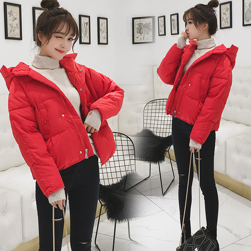 棉衣女短款2019新款冬季韩版宽松羽绒棉服加厚小个子面包服外套潮