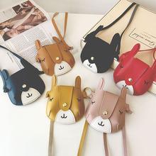Khuyến mại 2018 xuân mới phiên bản tiếng Hàn của túi nai hoang dã hoạt hình dễ thương đeo chéo vai gói xu Ví tiền trẻ em