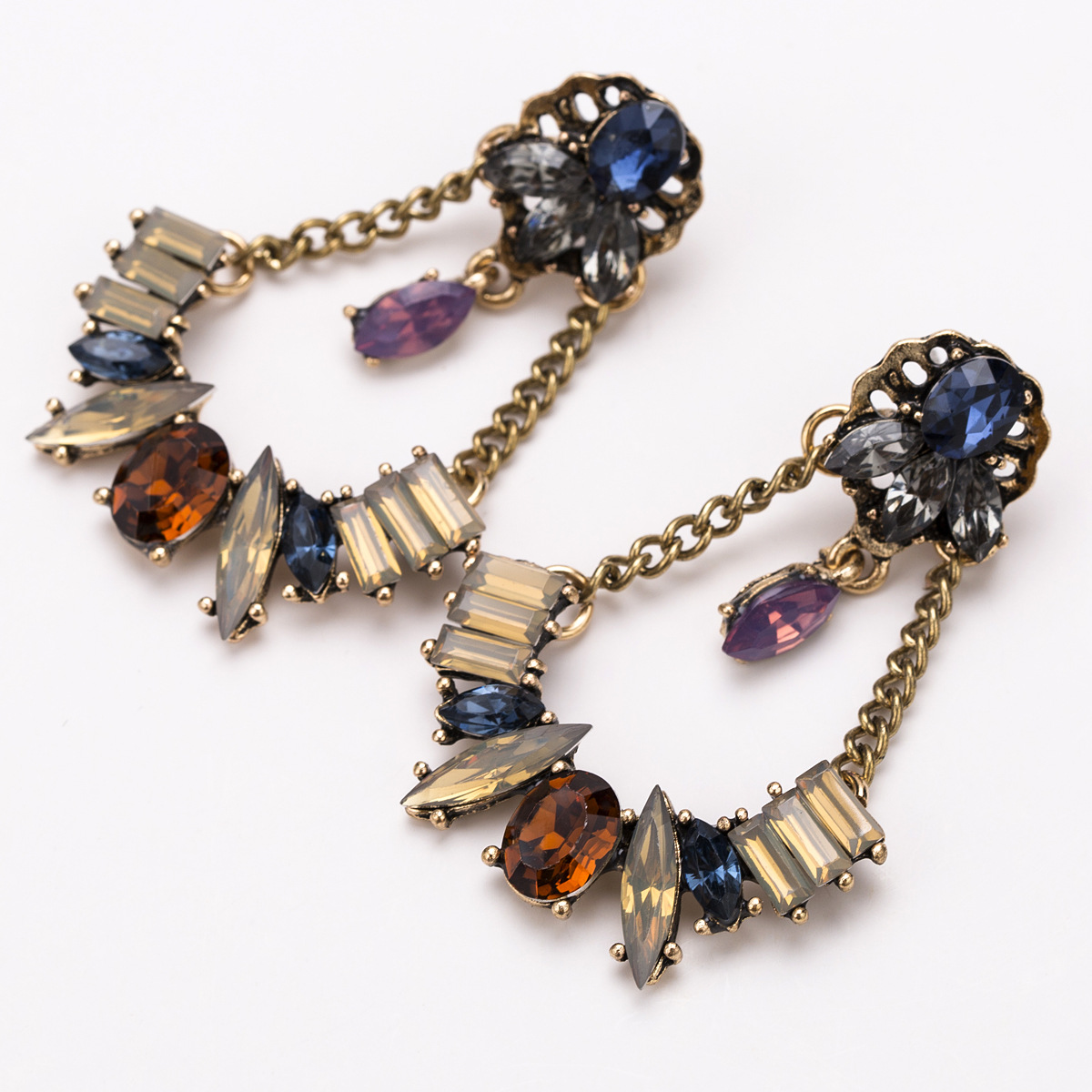 Alloy Fashion Geometric earring(color) NHJE1623-color