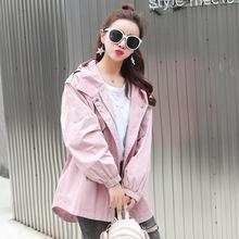 2018秋装新款韩版超火学生宽松学院风中长款小个子风衣外套女装