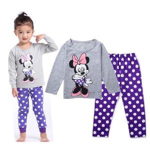 Foreign trade, autumn and winter children's cotton girl baby cartoon Minnie underwear home furnishing fashion sleepwear