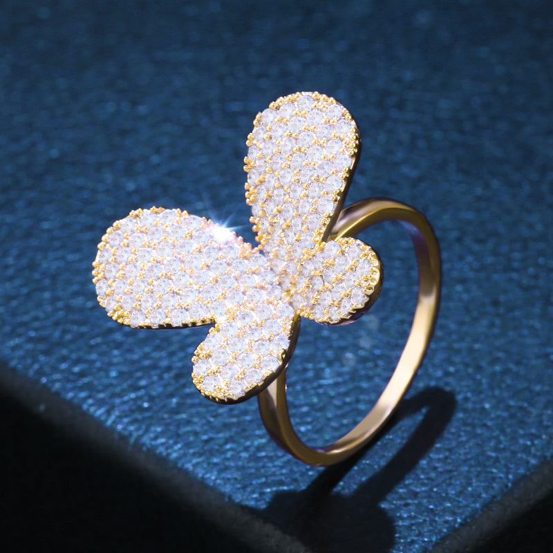 Copper Fashion Bows Ring  (Alloy-7)  Fine Jewelry NHAS0420-Alloy-7