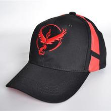 现货宠物小精灵神奇宝贝Pokemon Go口袋妖怪棒球帽嘻弯沿遮阳帽女