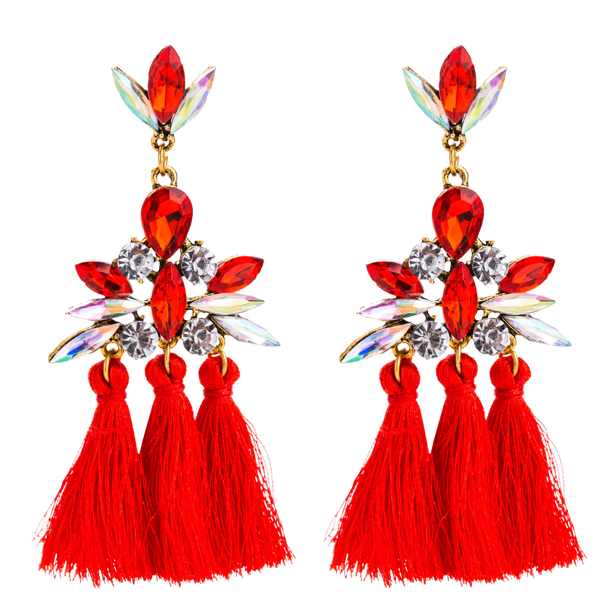 Alloy Fashion Geometric earring(red) NHJE1636-red