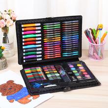 新款小学生109件绘画套装 手提式儿童美术画画水彩笔蜡笔礼品直销