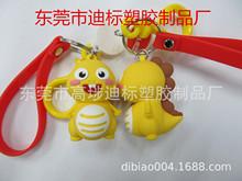 12生肖動漫鑰匙扣 PVC滴膠卡通3D公仔掛件  VIP小恐龍鑰匙扣公仔