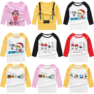 Children's clothing, boys and girls, bottoming shirts, Lycra cotton long sleeves spring and autumn long sleeved T-Shirt