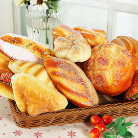 Simulation bread set PU model decoration home decoration window display display photography props
