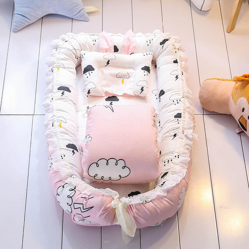 婴儿床中床便携式 可拆洗带被子宝宝睡床新生儿仿生床全脱卸设计