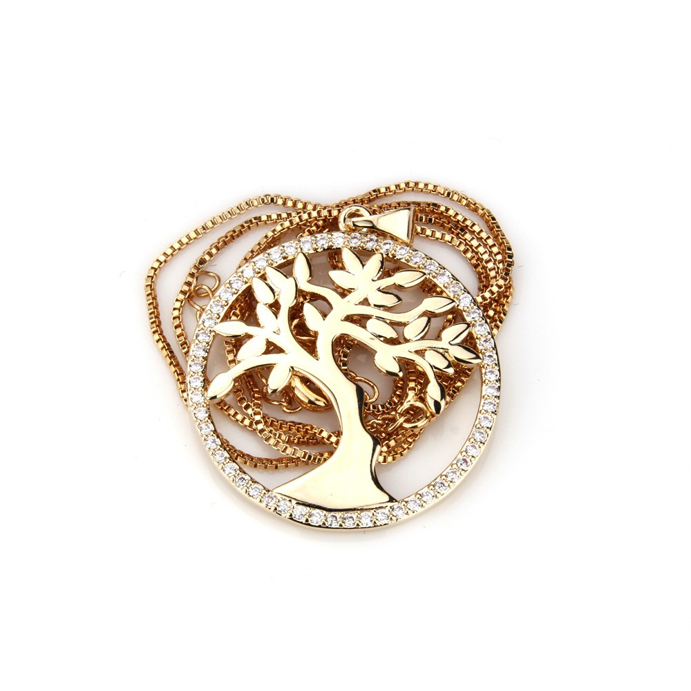 Copper Fashion Tree necklace  Alloy NHBP0323Alloyplated