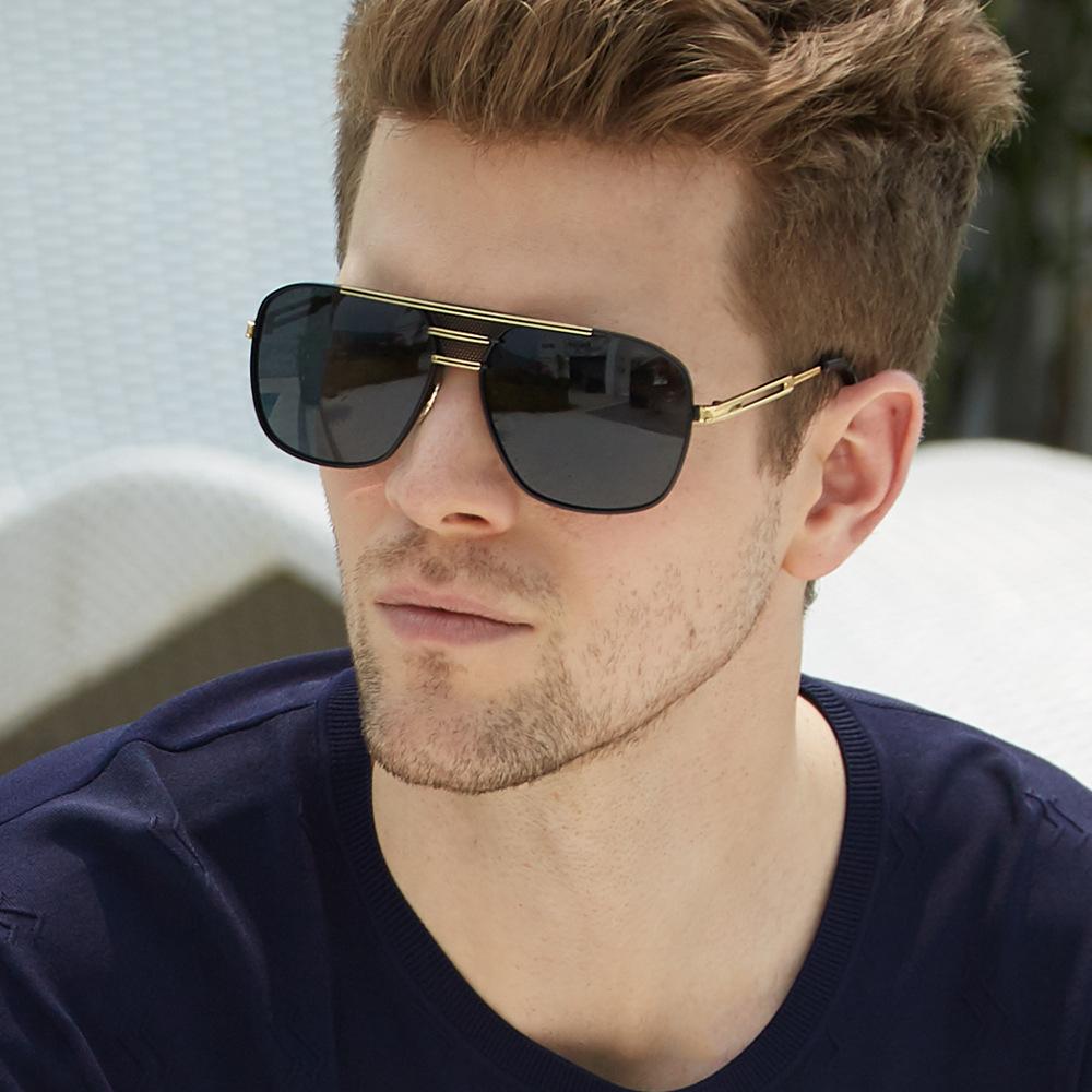 200 欧美时尚速卖通偏光镜 爆款太阳眼镜 复古金属男士偏光镜
