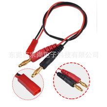 航模电池充电线 一拖六香蕉头线4mm转jst充电线母头并充B6充电器