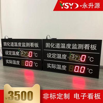定制温度监测看板 高精度温度传感器自动采集显示 电子看板